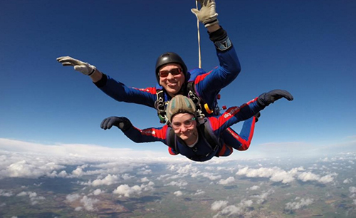 Skydive instructor and Nathan Burke1